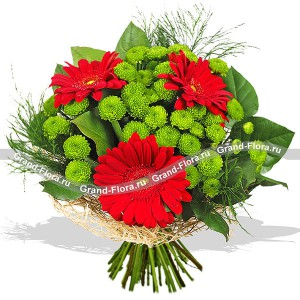Thank you for being there! - a bouquet of roses and Chrysanthemums